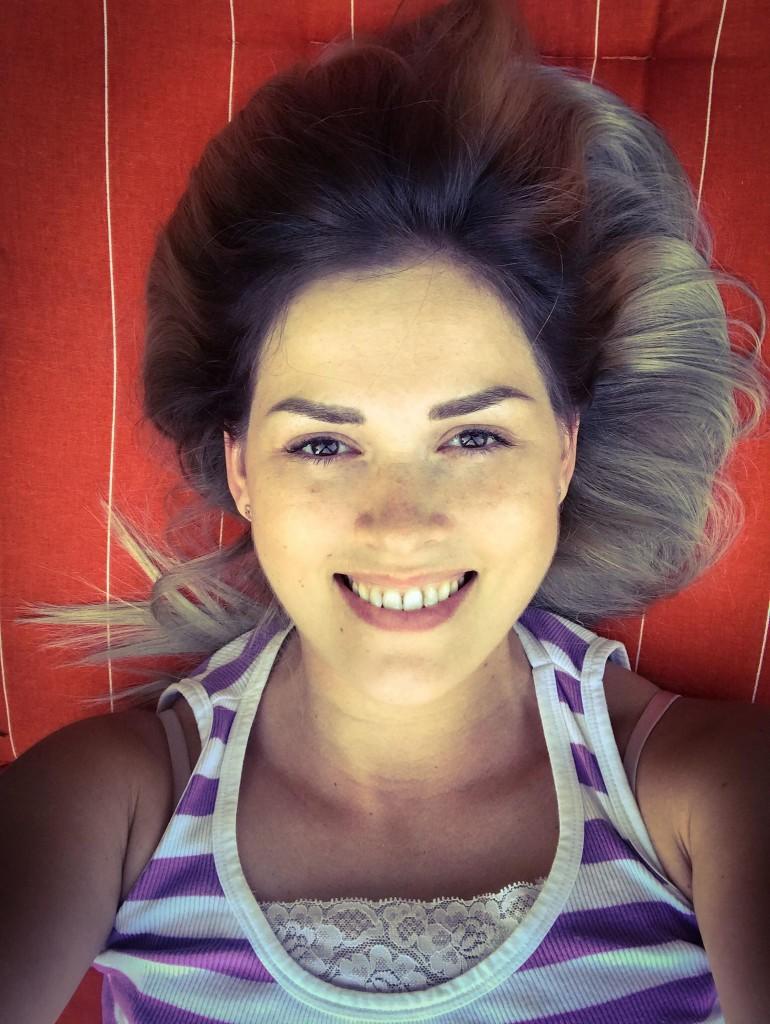 Un selfie făcut de Iby zilele trecute, cu cele 15 kg pe minus :)